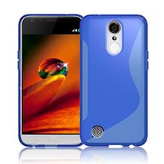 Coque Silicone Souple Transparente Vague S-Line pour LG K10 (2017) Bleu