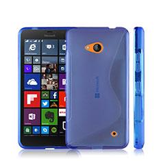 Coque Silicone Souple Transparente Vague S-Line pour Microsoft Lumia 640 Bleu