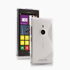 Coque Silicone Souple Transparente Vague S-Line pour Nokia Lumia 925 Blanc