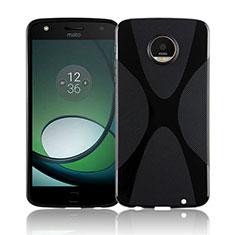 Coque Silicone Souple Transparente Vague X-Line T01 pour Motorola Moto Z Play Noir