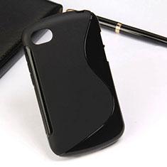 Coque Silicone Souple Vague S-Line pour Blackberry Q10 Noir