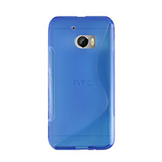Coque Silicone Souple Vague S-Line pour HTC 10 One M10 Bleu