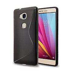 Coque Silicone Souple Vague S-Line pour Huawei Honor X5 Noir