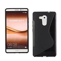 Coque Silicone Souple Vague S-Line pour Huawei Mate 8 Noir