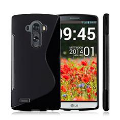 Coque Silicone Souple Vague S-Line pour LG G4 Noir