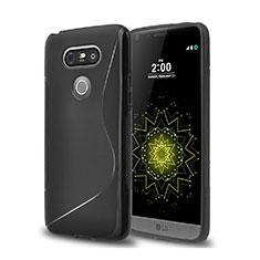 Coque Silicone Souple Vague S-Line pour LG G5 Noir