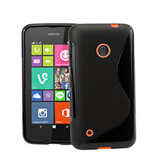Coque Silicone Souple Vague S-Line pour Nokia Lumia 530 Noir