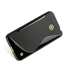 Coque Silicone Souple Vague S-Line pour Nokia Lumia 630 Noir