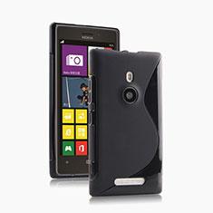 Coque Silicone Souple Vague S-Line pour Nokia Lumia 925 Noir