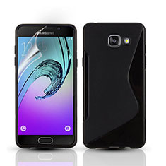 Coque Silicone Souple Vague S-Line pour Samsung Galaxy A3 (2016) SM-A310F Noir