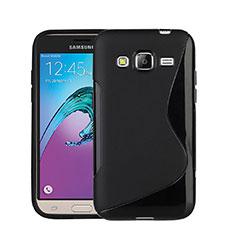 Coque Silicone Souple Vague S-Line pour Samsung Galaxy Amp Prime J320P J320M Noir