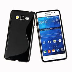 Coque Silicone Souple Vague S-Line pour Samsung Galaxy Grand Prime SM-G530H Noir