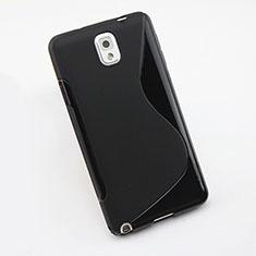 Coque Silicone Souple Vague S-Line pour Samsung Galaxy Note 3 N9000 Noir