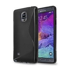 Coque Silicone Souple Vague S-Line pour Samsung Galaxy Note 4 SM-N910F Noir