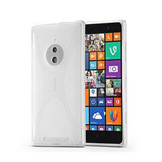 Coque Silicone Souple Vague X-Line pour Nokia Lumia 830 Blanc