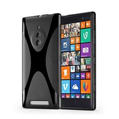 Coque Silicone Souple Vague X-Line pour Nokia Lumia 830 Noir