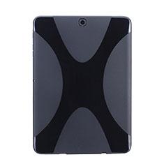 Coque Silicone Souple Vague X-Line pour Samsung Galaxy Tab S2 8.0 SM-T710 SM-T715 Noir
