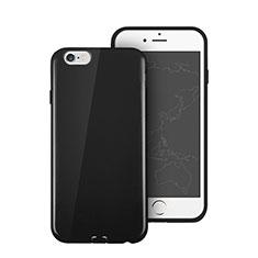 Coque Silicone TPU Souple Couleur Unie pour Apple iPhone 6 Noir
