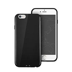 Coque Silicone TPU Souple Couleur Unie pour Apple iPhone 6 Plus Noir