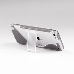 Coque Silicone Transparente Vague S-Line avec Bequille pour Apple iPod Touch 5 Gris