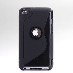 Coque Silicone Transparente Vague S-Line pour Apple iPod Touch 4 Noir