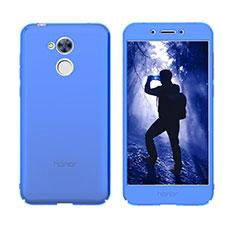 Coque Transparente Integrale Silicone Souple Avant et Arriere Housse Etui pour Huawei Honor 6A Bleu