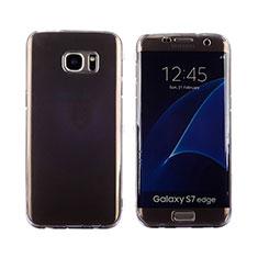 Coque Transparente Integrale Silicone Souple Avant et Arriere Housse Etui pour Samsung Galaxy S7 Edge G935F Gris