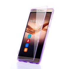 Coque Transparente Integrale Silicone Souple Portefeuille pour Huawei Honor V8 Max Violet