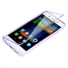 Coque Transparente Integrale Silicone Souple Portefeuille pour Huawei P8 Lite Violet