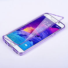 Coque Transparente Integrale Silicone Souple Portefeuille pour Samsung Galaxy Note 5 N9200 N920 N920F Violet