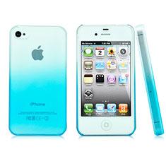 Coque Transparente Rigide Degrade pour Apple iPhone 4 Bleu Ciel