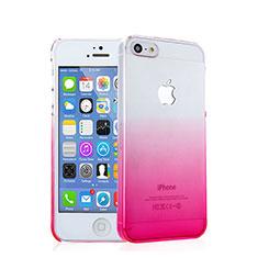 Coque Transparente Rigide Degrade pour Apple iPhone 5 Rose