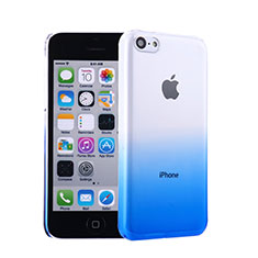 Coque Transparente Rigide Degrade pour Apple iPhone 5C Bleu