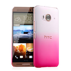 Coque Transparente Rigide Degrade pour HTC One Me Rose