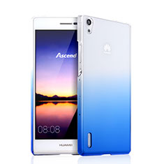 Coque Transparente Rigide Degrade pour Huawei Ascend P7 Bleu