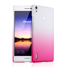 Coque Transparente Rigide Degrade pour Huawei Ascend P7 Rose