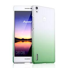Coque Transparente Rigide Degrade pour Huawei Ascend P7 Vert