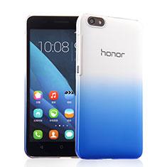 Coque Transparente Rigide Degrade pour Huawei Honor 4X Bleu