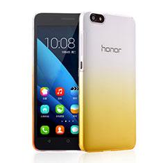Coque Transparente Rigide Degrade pour Huawei Honor 4X Jaune