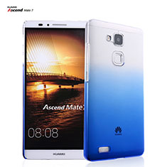 Coque Transparente Rigide Degrade pour Huawei Mate 7 Bleu