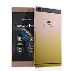 Coque Transparente Rigide Degrade pour Huawei P8 Jaune