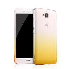 Coque Transparente Rigide Degrade pour Huawei Y6 Pro Jaune