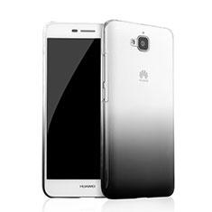 Coque Transparente Rigide Degrade pour Huawei Y6 Pro Noir