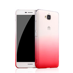 Coque Transparente Rigide Degrade pour Huawei Y6 Pro Rose