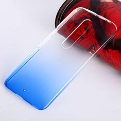 Coque Transparente Rigide Degrade pour Motorola Moto X Style Bleu