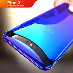 Coque Transparente Rigide Degrade pour Oppo Find X Super Flash Edition Bleu