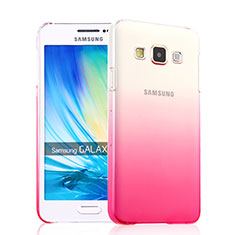 Coque Transparente Rigide Degrade pour Samsung Galaxy A3 Duos SM-A300F Rose