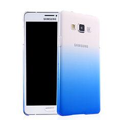 Coque Transparente Rigide Degrade pour Samsung Galaxy A7 Duos SM-A700F A700FD Bleu