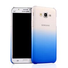 Coque Transparente Rigide Degrade pour Samsung Galaxy J7 SM-J700F J700H Bleu