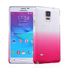 Coque Transparente Rigide Degrade pour Samsung Galaxy Note 4 Duos N9100 Dual SIM Rose